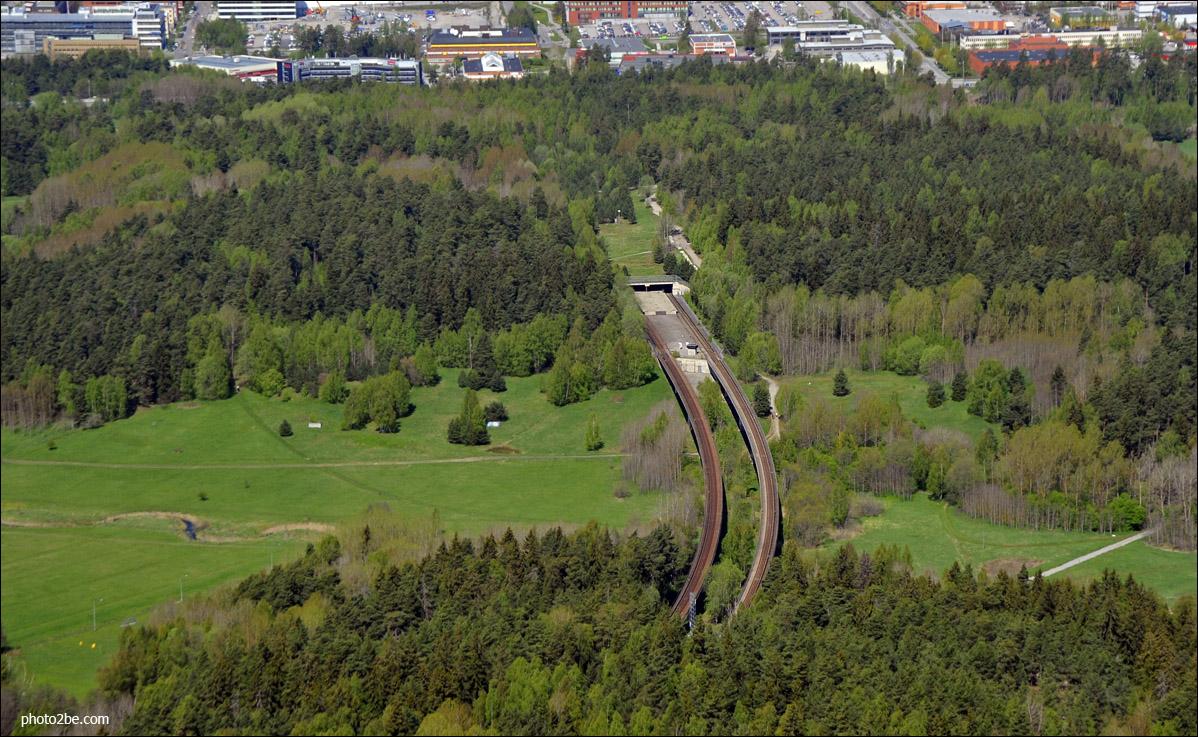Rheborgs spökstation från ovan.    (Foto: Björn Bergman/photo2be